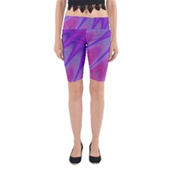 Purple Star Sun Sunshine Fractal Yoga Cropped Leggings