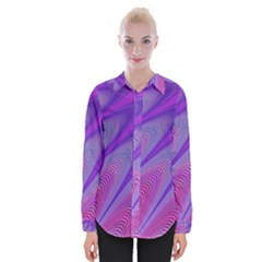 Purple Star Sun Sunshine Fractal Womens Long Sleeve Shirt