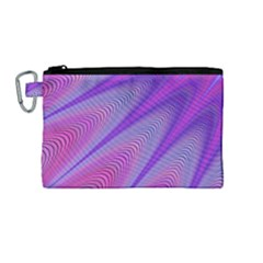 Purple Star Sun Sunshine Fractal Canvas Cosmetic Bag (medium) by BangZart