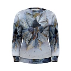 Winter Frost Ice Sheet Leaves Women s Sweatshirt