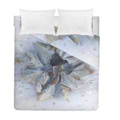 Winter Frost Ice Sheet Leaves Duvet Cover Double Side (full/ Double Size) by BangZart