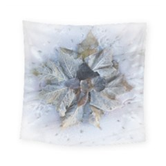 Winter Frost Ice Sheet Leaves Square Tapestry (small) by BangZart