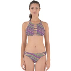 Wave Abstract Happy Background Perfectly Cut Out Bikini Set
