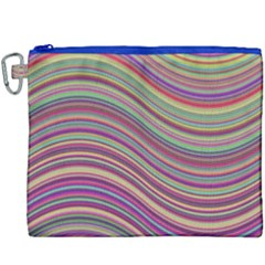Wave Abstract Happy Background Canvas Cosmetic Bag (xxxl) by BangZart
