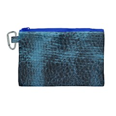 Blue Black Shiny Fabric Pattern Canvas Cosmetic Bag (large) by BangZart