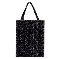 Black And White Textured Pattern Classic Tote Bag by dflcprints