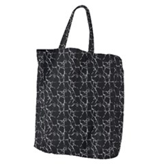 Black And White Textured Pattern Giant Grocery Zipper Tote by dflcprints