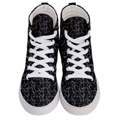 Black And White Textured Pattern Men s Hi Top Skate Sneakers