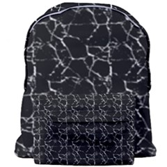 Black And White Textured Pattern Giant Full Print Backpack by dflcprints