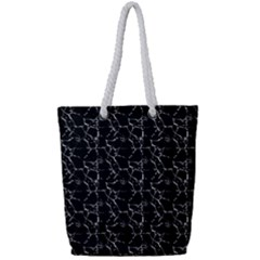 Black And White Textured Pattern Full Print Rope Handle Tote (small) by dflcprints