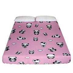 Panda Pattern Fitted Sheet (california King Size) by Valentinaart