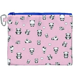 Panda Pattern Canvas Cosmetic Bag (xxxl) by Valentinaart