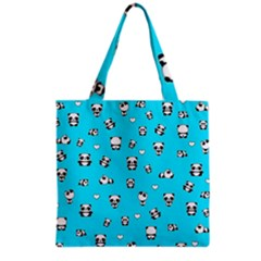 Panda Pattern Grocery Tote Bag by Valentinaart