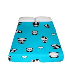 Panda Pattern Fitted Sheet (full/ Double Size) by Valentinaart