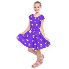 Panda Pattern Kids  Short Sleeve Dress by Valentinaart