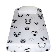 Panda Pattern Fitted Sheet (single Size) by Valentinaart