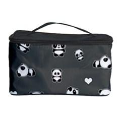 Panda Pattern Cosmetic Storage Case by Valentinaart