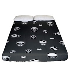 Panda Pattern Fitted Sheet (king Size) by Valentinaart