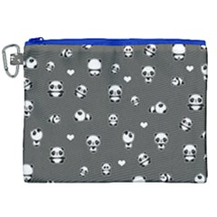 Panda Pattern Canvas Cosmetic Bag (xxl) by Valentinaart