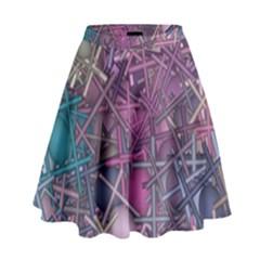 Fun,fantasy And Joy 1 High Waist Skirt by MoreColorsinLife