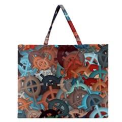 Fun,fantasy And Joy 2 Zipper Large Tote Bag by MoreColorsinLife