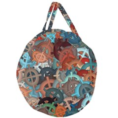 Fun,fantasy And Joy 2 Giant Round Zipper Tote by MoreColorsinLife