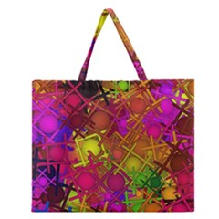 Fun,fantasy And Joy 5 Zipper Large Tote Bag by MoreColorsinLife