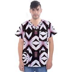 Japan Is A Beautiful Place In Calm Style Men s V Neck Scrub Top by pepitasart