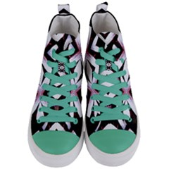 Japan Is A Beautiful Place In Calm Style Women s Mid Top Canvas Sneakers