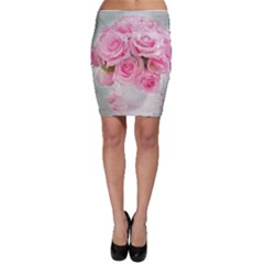Pink Roses Bodycon Skirt by 8fugoso