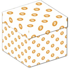 Bitcoin Logo Pattern Storage Stool 12   by dflcprints
