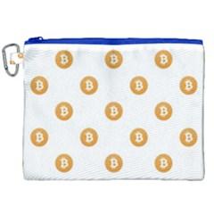 Bitcoin Logo Pattern Canvas Cosmetic Bag (xxl) by dflcprints