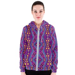Aztec Purple Pattern Native American Forever Love Women s Zipper Hoodie