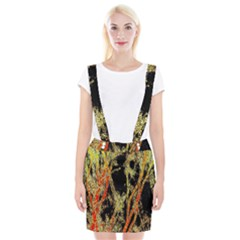 Artistic Effect Fractal Forest Background Braces Suspender Skirt