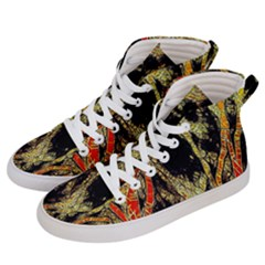 Artistic Effect Fractal Forest Background Men s Hi Top Skate Sneakers by Amaryn4rt