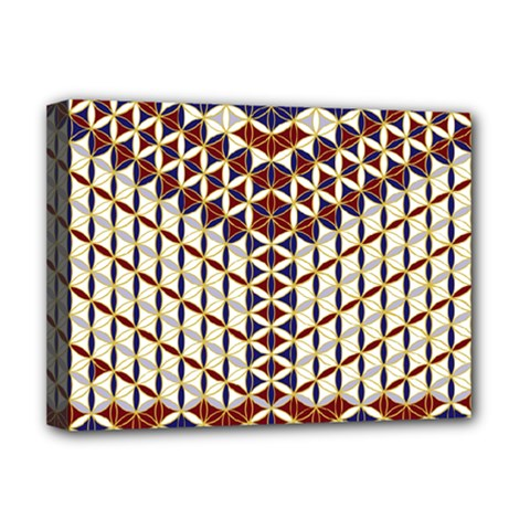 Flower Of Life Pattern Red Blue Deluxe Canvas 16  X 12