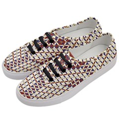 Flower Of Life Pattern Red Blue Women s Classic Low Top Sneakers by Cveti