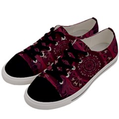 Leather And Love In A Safe Environment Men s Low Top Canvas Sneakers by pepitasart