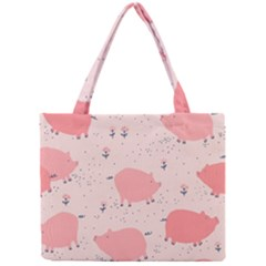 Pigs And Flowers Mini Tote Bag by allthingseveryday