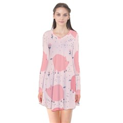Pigs And Flowers Flare Dress by allthingseveryday