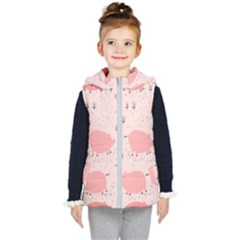 Pigs And Flowers Kid s Puffer Vest by allthingseveryday