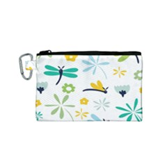 Busy Dragonflies Canvas Cosmetic Bag (small)