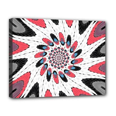 High Contrast Twirl Canvas 14  X 11  by linceazul