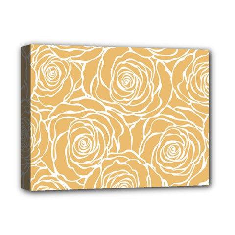 Yellow Peonines Deluxe Canvas 16  X 12   by 8fugoso