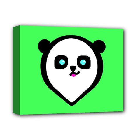 Panda Bear Deluxe Canvas 14  X 11  by Celenk