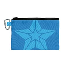 Star Design Pattern Texture Sign Canvas Cosmetic Bag (medium) by Celenk