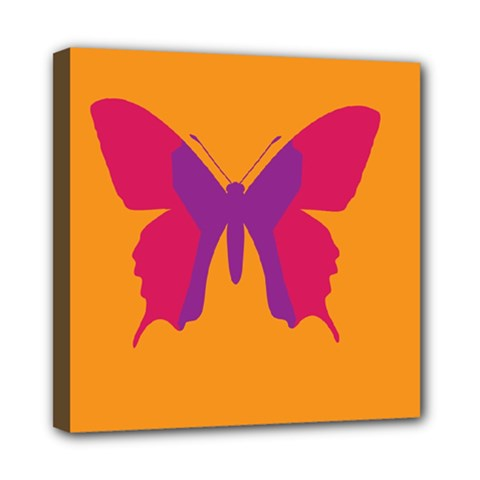 Butterfly Wings Insect Nature Mini Canvas 8  X 8  by Celenk