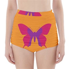 Butterfly Wings Insect Nature High Waisted Bikini Bottoms by Celenk
