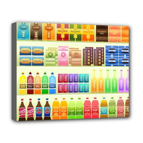 Supermarket Shelf Products Snacks Deluxe Canvas 20  X 16   by Celenk