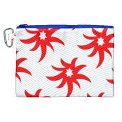 Star Figure Form Pattern Structure Canvas Cosmetic Bag (xl) by Celenk